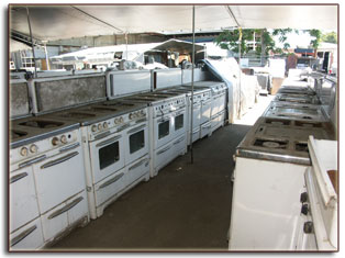 Stoves out back at Buckeye Appliance